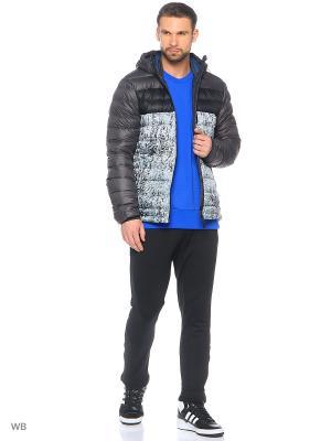Куртка CLIMAHEAT FROST PRINTED JACKET Adidas. Цвет: антрацитовый, белый