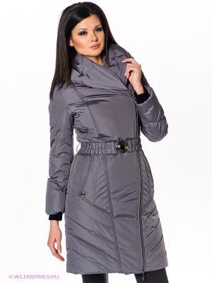 Пальто Alisa Line. Цвет: серый, сиреневый