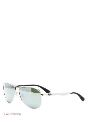 Очки солнцезащитные Ray Ban. Цвет: темно-серый, серебристый