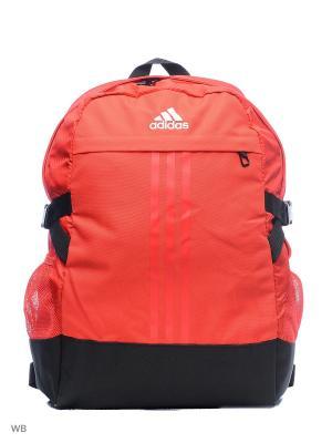 Рюкзак BP POWER III M  RAYRED/RAYRED/WHITE Adidas. Цвет: красный, черный