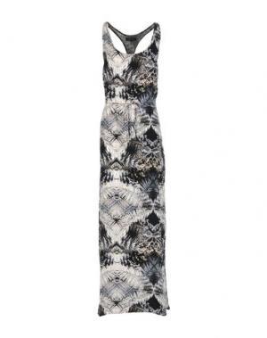 Длинное платье SECOND FEMALE. Цвет: черный