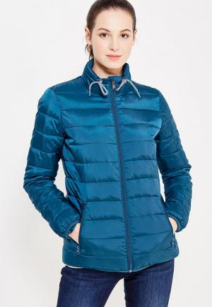 Куртка утепленная Roxy. Цвет: бирюзовый