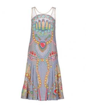 Платье до колена MANISH ARORA. Цвет: светло-серый