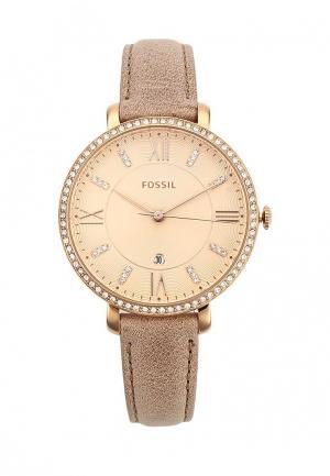 Часы Fossil. Цвет: розовый