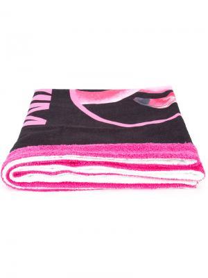 Пляжное полотенце с логотипом Moschino. Цвет: розовый и фиолетовый