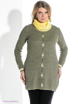 Туника Milana Style. Цвет: черный, желтый