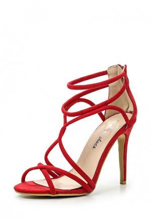 Босоножки Style Shoes. Цвет: красный