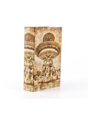Шкатулка Фонтаны Гитторфа Русские подарки. Цвет: светло-коричневый, горчичный, светло-оранжевый