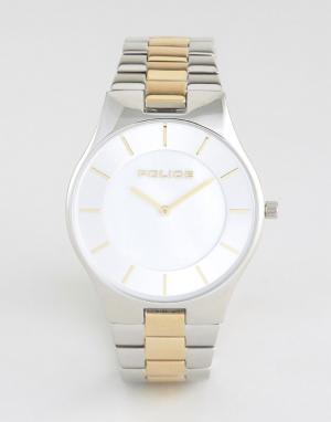 Police Мужские часы с серебристо-золотистым браслетом из нержавеющей стали и. Цвет: серебряный