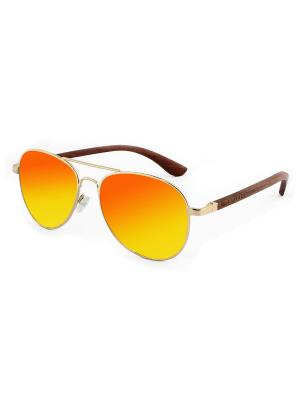 Модные солнцезащитные очки Lumo. Цвет: красный