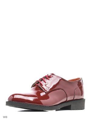 Туфли ESTELLA. Цвет: темно-бордовый