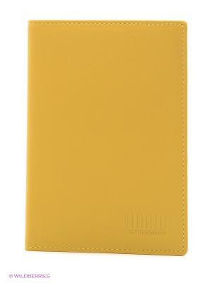 Обложка для паспорта Mano. Цвет: желтый