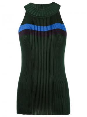 Sleeveless knit blouse Gig. Цвет: зелёный