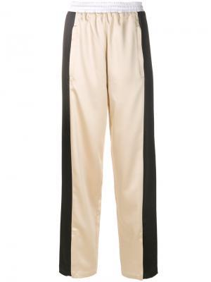 Широкие брюки Koché. Цвет: телесный