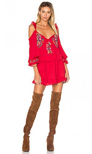 Платье dianne VAVA by Joy Han. Цвет: красный