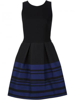 Расклешенное платье в полоску Martin Grant. Цвет: чёрный