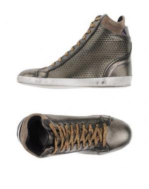 Высокие кеды и кроссовки OVYE' BY CRISTINA LUCCHI. Цвет: бронзовый