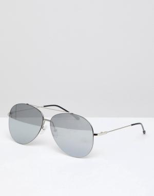 Jeepers Peepers Серебристые солнцезащитные очки‑авиаторы. Цвет: золотой