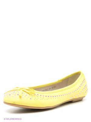 Балетки Spur. Цвет: желтый, розовый