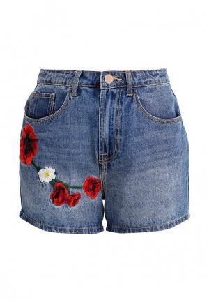 Шорты джинсовые LOST INK. Цвет: синий