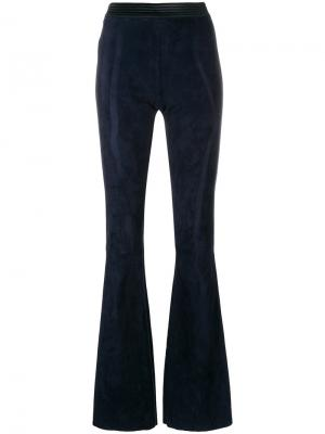 Flared fitted trousers Drome. Цвет: синий