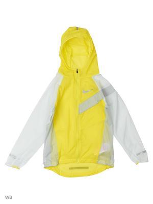 Ветровка B NK JKT HD IMP LT AOP Nike. Цвет: желтый, белый, серый