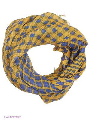 Палантин Moltini. Цвет: желтый, синий