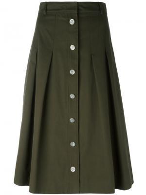 A-line button skirt Vanessa Seward. Цвет: зелёный