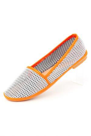 Мокасины Brocoli. Цвет: серо-оранжевый