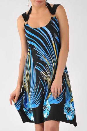 Платье M&L Collection. Цвет: синий