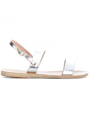Сандалии Clio Ancient Greek Sandals. Цвет: металлический