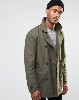 Farah Двубортное пальто. Цвет: зеленый