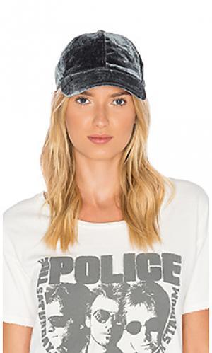 Бархатная бейсбольная кепка Hat Attack. Цвет: серый