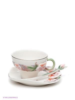 Кофейная пара Виола Pavone. Цвет: зеленый, кремовый