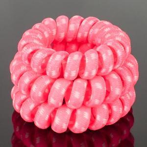 Комплект Резинок-Пружинок для волос 3 шт/уп, арт. РПВ-328 Бусики-Колечки. Цвет: розовый