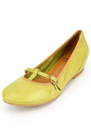 Туфли MIKAELA. Цвет: зеленый