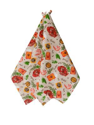 Набор полотенец,3штуки Fresca Design. Цвет: зеленый, оранжевый