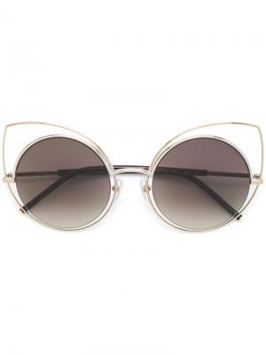 Солнцезащитные очки с оправой кошачий глаз Marc Jacobs Eyewear. Цвет: чёрный