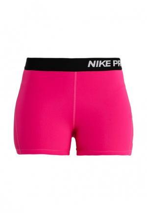 Шорты компрессионные Nike. Цвет: розовый