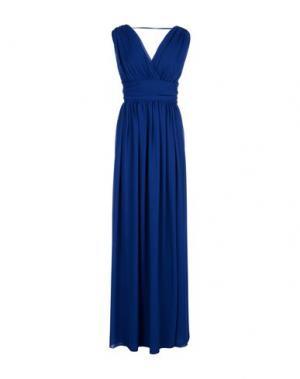 Длинное платье CARLA MONTANARINI. Цвет: синий