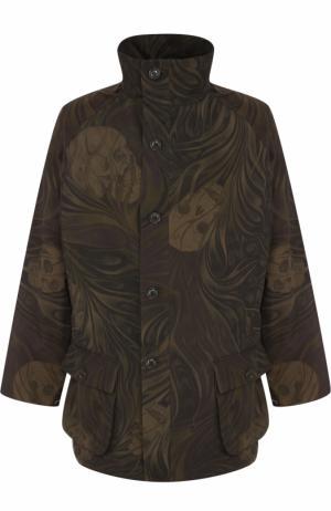 Куртка свободного кроя с принтом Yohji Yamamoto. Цвет: хаки
