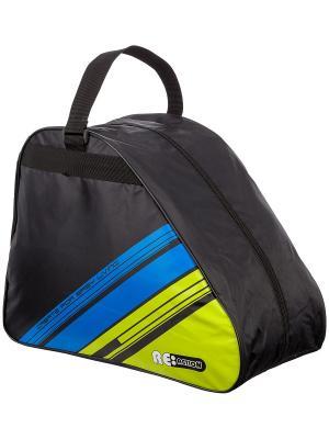 Сумка-рюкзак для роликовых коньков Re:action. Цвет: черный, зеленый, синий