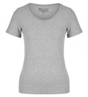 Серая хлопковая футболка Bread&Boxers. Цвет: серый