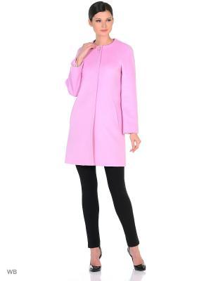 Пальто Exalta. Цвет: бледно-розовый