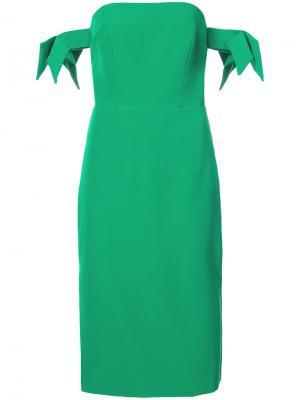 Off the shoulder fitted dress Milly. Цвет: зелёный