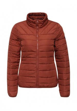 Куртка утепленная Only. Цвет: коричневый