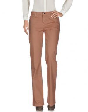 Повседневные брюки VANESSA BRUNO ATHE'. Цвет: коричневый