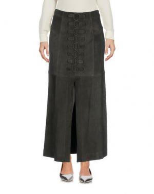 Длинная юбка TAMARA MELLON. Цвет: свинцово-серый