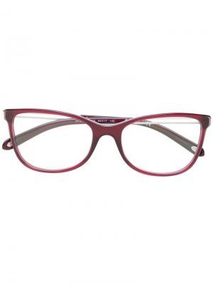 Красные квадратные очки Tiffany & Co.. Цвет: розовый и фиолетовый