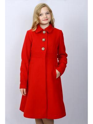 Пальто DESTY. Цвет: красный